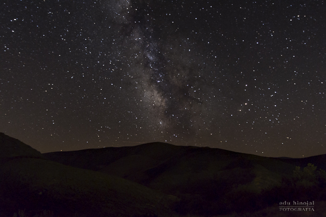 Vía láctea en el cielo del Norte de Gredos